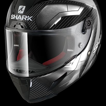 Шлем интеграл Shark Race-r Pro Carbon Deager Carbon Chrom White